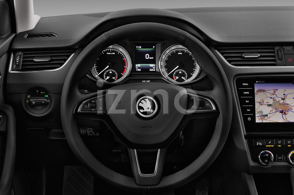 Car pictures of steering wheel view of a 2017 Skoda Octavia Style 5 Door Wagon Steering Wheel
