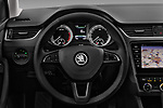 Car pictures of steering wheel view of a 2017 Skoda Octavia Style 5 Door Wagon Steering Wheel
