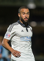 Ashley 'Jazz' Richards of Fulham during the Capital One Cup match between Wycombe Wanderers and Fulham at Adams Park, High Wycombe, England on 11 August 2015. Photo by Andy Rowland.
