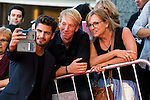Maxi Iglesias taking a selfie with fans during the red carpet of the opening ceremony of the Festival de Cine Fantastico de Sitges in Barcelona. October 07, Spain. 2016. (ALTERPHOTOS/BorjaB.Hojas)