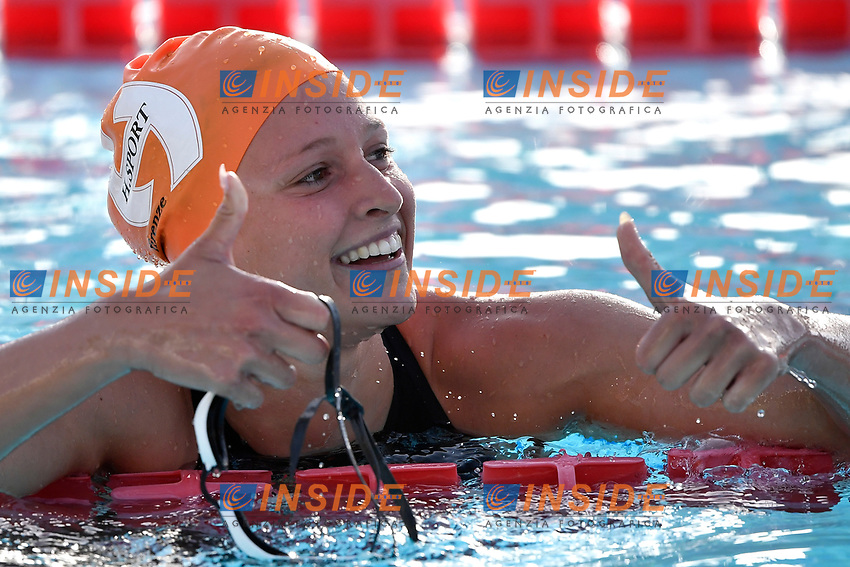 Anna Chiara Mascolo of Italy reacts after competing in the women 200m freestyle during the 58th Sette Colli Trophy International Swimming Championships at Foro Italico in Rome, June 25th, 2021. Anna Chiara Mascolo placed second. <br /> Photo Andrea Staccioli/Insidefoto/Deepbluemedia