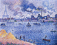The Seine, Grenelle, 1899<br /> Paul Signac (1863–1935) <br /> oil on canvas<br /> Private Collection