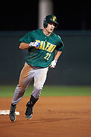 Siena Saints center fielder Dan Swain (22) runs the bases after hitting a home run during a game against the Stetson Hatters on February 23, 2016 at Melching Field at Conrad Park in DeLand, Florida.  Stetson defeated Siena 5-3.  (Mike Janes/Four Seam Images)