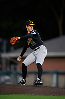 West Virginia Black Bears pitcher Bear Bellomy (22) during a NY-Penn League game against the Auburn Doubledays on August 23, 2019 at Falcon Park in Auburn, New York.  West Virginia defeated Auburn 6-5, the second game of a doubleheader.  (Mike Janes/Four Seam Images)