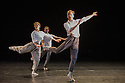 """London, UK. 15.04.2014. HeadSpaceDance present IF PLAY IS PLAY..., a triple bill of new work, in the Linbury Studio, Royal Opera House, London. Picture shows: Clemmie Sveaas, Christopher Akrill and Jonathan Goddard, in """"Before the Interval"""".  Photograph © Jane Hobson."""