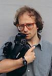 1993,Rimini. Enrico Ghezzi  al festival Riminicinema. Enrico Ghezzi at Riminicinema Festival© Fulvia