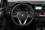 Car pictures of steering wheel view of a 2020 BMW 1-Series Sport 5 Door Hatchback Steering Wheel