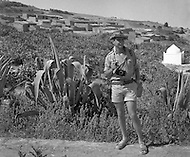 """Mascara Area, Algeria, Summer 1961. Typical French Fort for a small harka unit. This unit counted 48 """"harkis"""", Arab origin, fighting along the French troops. This fort was above the small vilage of M'Zaourat of about 50 souls. The comanding Officer Under  Lieutenant JP Laffont."""