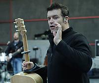 Roch Voisine en repetition pour le Show du Refuge 2014<br />  , novembre 2014<br /> <br /> Photo : Agence Quebec Presse