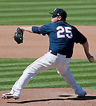 Reno Aces pitcher Matt Gorgen throws vs the Fresno Grizzlies on Sunday afternoon, August 26, 2012 in Reno, Nevada.