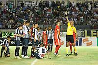 SOBRADINHO-DF, 06.02.2019-COPA DO BRASIL/SOBRADINHO X AMÉRICA-RN-Lance durante a partida entre Sobradinho e América-RN, válida pela Copa do Brasil 2019 no Estádio Augustinho Lima, nesta quarta-feira (6).(Foto: Anderson Papel/Código19)