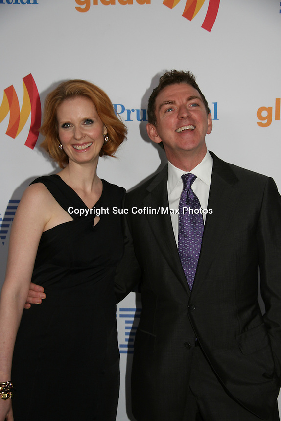 Cynthia Nixon - Sex & The City presented the Vito Russo Award by Michael Patrick King at the 21st Annual GLAAD Media Awards on March 13, 2010 at the New York Marriott Marquis, New York City, NY. (Photo by Sue Coflin/Max Photos)