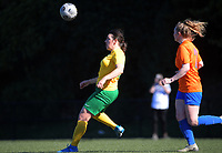 Action from the W-League football match between Victoria University and Wellington United Diamonds at Boyd Wilson Field in Wellington, New Zealand on Saturday, 24 April 2021. Photo: Dave Lintott / lintottphoto.co.nz