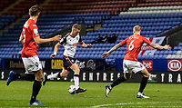 Bolton Wanderers' Eoin Doyle (centre) breaks<br /> <br /> Photographer Andrew Kearns/CameraSport<br /> <br /> The EFL Sky Bet League Two - Bolton Wanderers v Salford City - Friday 13th November 2020 - University of Bolton Stadium - Bolton<br /> <br /> World Copyright © 2020 CameraSport. All rights reserved. 43 Linden Ave. Countesthorpe. Leicester. England. LE8 5PG - Tel: +44 (0) 116 277 4147 - admin@camerasport.com - www.camerasport.com