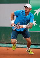 France, Paris, 28.05.2014. Tennis, French Open, Roland Garros, Andreas Haider-Maurer (AUT)<br /> Photo:Tennisimages/Henk Koster