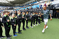 Andre Ayew of Swansea City exits the tunnel during the Sky Bet Championship match between Swansea City and Preston North End at the Liberty Stadium, Swansea, Wales, UK. Saturday 17 August 2019