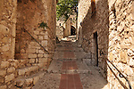 An alley in the beautiful enclave of Eze above Nice, France.