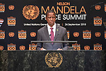 Opening Plenary Meeting of the Nelson Mandela Peace Summit<br /> <br /> His Excellency Edgar Chagwa LUNGUPresident of the Republic of Zambia