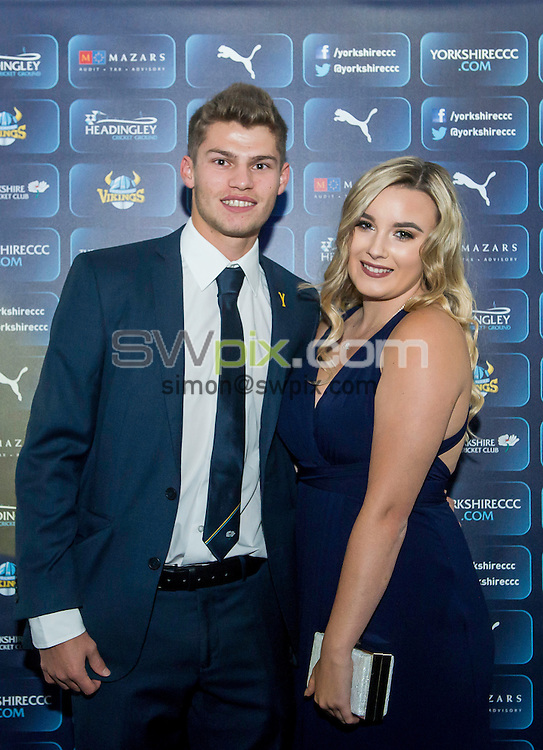 Picture by Allan McKenzie/SWpix.com - 06/10/16 - Commercial - Cricket - Yorkshire County Cricket Club Gala Dinner 2016 - Headingley Cricket Ground, Leeds, England - Karl Carver.
