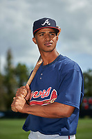 Atlanta Braves Ray-Patrick Didder (9) poses for a photo after a minor league Spring Training game against the Detroit Tigers on March 25, 2017 at ESPN Wide World of Sports Complex in Orlando, Florida.  (Mike Janes/Four Seam Images)