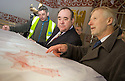 :: FIRST MINISTER ALEX SALMOND IS SHOWN PLANS OF THE REFURBISHMENT CURRENT BEING DONE AT STIRLING CASTLE'S ROYAL PALACE BY HEAD OF MAJOR PROJECTS, CHRIS WATKINS :: THE FIRST MINISTER WAS AT THE CASTLE TO ANNOUNCE DETAILS OF THE RENAISSANCE ROYAL PALACE OPENING EVENT ::