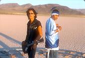 NELLY & JOE PERRY {AEROSMITH}-MUSIC VIDEO-_#1_-JEAN DRY LKE BED-LAS VEGAS, NV. AUGUST 27, 2001-03<br /> Photo Credit: JEFFREY MAYER:AtlasIcons.com