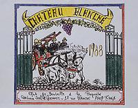 Europe/France/Ile-de-France/Paris: Caserne de pompiers Blanche (XVIIIème arrondissement) - Etiquette de vin de Paris