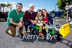 Enjoying the Vintage Tractor run in Ballyduff on Sunday, l to r: Derek O'Connor, Tom Moran, Gillian and Sam O'Connor.