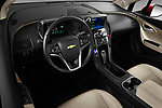 High angle dashboard view of a 2011 Chevrolet Volt