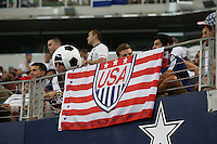 Fans display their spirit during the match between USMNT and Honduras on July 24, 2013 at Dallas Cowboys Stadium in Arlington, TX. USMNT won 3-1.