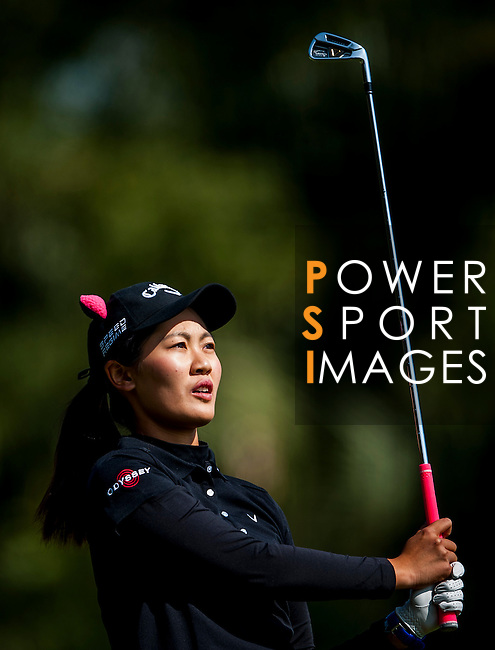 Xiyu Lin of China in action during the Hyundai China Ladies Open 2014 at World Cup Course in Mission Hills Shenzhen on December 14 2014, in Shenzhen, China. Photo by Xaume Olleros / Power Sport Images