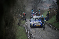 Dwars Door Vlaanderen 2013.Mathew Hayman (AUS) leading the race