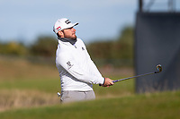 3rd October 2021; The Old Course, St Andrews Links, Fife, Scotland; European Tour, Alfred Dunhill Links Championship, Fourth round; Tyrrell Hatton of England plays from the rough on the fifteenth hole during the final round of the Alfred Dunhill Links Championship on the Old Course, St Andrews