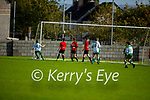Shane O'Loughlin (16) of Castleisland unmarked at the far post slots the ball in the net for the opening score against Park FC in the Schoolboys soccer U14 Div 1 league