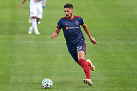 CHICAGO, UNITED STATES - AUGUST 25: Mauricio Pineda #22 of Chicago Fire dribbles the ball during a game between FC Cincinnati and Chicago Fire at Soldier Field on August 25, 2020 in Chicago, Illinois.