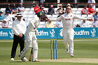Simon Harmer in bowling action for Essex during Essex CCC vs Nottinghamshire CCC, LV Insurance County Championship Group 1 Cricket at The Cloudfm County Ground on 3rd June 2021