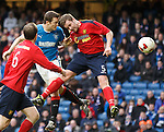 Jon Daly attempts a header on goal