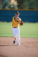 Fisher Pyatt (1) of St. Augustine High School in San Diego, California during the Baseball Factory All-America Pre-Season Tournament, powered by Under Armour, on January 13, 2018 at Sloan Park Complex in Mesa, Arizona.  (Mike Janes/Four Seam Images)