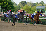 9 APR - Win Willy (1) with mount Cliff Barry, battles Calvin Borel and Misremembered (4) during the 65th running of the Oaklawn Park Handicap.