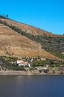 douro river and steep vineyards quinta dos murcas douro portugal