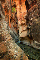 Kanarra Creek slot canyon. Utah. Dixie National Forest