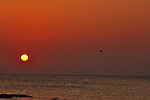 Sunrise from the beach at Isla  Holbox, Mexico.