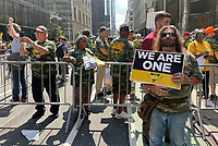 NEW YORK, NY- JULY 28: Striking Alabama Coal Miners Protest At BlackRock Offices In New York City on July 28, 2021. Credit: Rainmaker Photos/MediaPunch