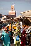 Platz Jeema El Fna (Platz der Gehenkten), Marrakesch, Marokko