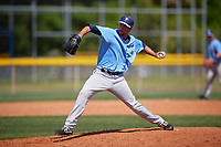 Tampa Bay Rays pitcher Michael Costanzo (60) during a Minor League Spring Training game against the Boston Red Sox on March 25, 2019 at the Charlotte County Sports Complex in Port Charlotte, Florida.  (Mike Janes/Four Seam Images)