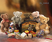 Interlitho, CUTE ANIMALS, LUSTIGE TIERE, ANIMALITOS DIVERTIDOS, teddies, paintings+++++,5 bears,toys,KL16412,#ac#