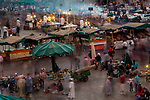 Marketplace in the old Medina of Fez, Fez-Meknes Morocco<br /> Canon EOS-1DS, EF70-200mm f/2.8 lens, f/32 for 15 seconds, ISO 50