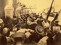 BNPS.co.uk (01202) 558833<br /> Pic: Charles Miller/BNPS<br /> <br /> Crowded - on board HMS Terrible<br /> <br /> A fascinating photo album compiled by a British naval officer on tour in the Far East at the turn of the 20th century has come to light.<br /> <br /> Taprell Dorling served on the HMS Terrible in 1900 at the start of an over 30 year career at sea.<br /> <br /> The album, containing 74 photos, has emerged for sale with auctioneers Charles Miller, of London, with an estimate of £3,000.