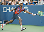 Donald Young, (USA) loses to Blaz Kavcic (SLO) 7-5, 6-4, 6-4 at the US Open being played at USTA Billie Jean King National Tennis Center in Flushing, NY on August 25, 2014