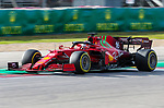 Scuderia Ferrari Mission Winnow driver Charles Leclerc (16) of Team Monaco in action during the Formula 1 Aramco United States Grand Prix practice session held at the Circuit of the Americas racetrack in Austin,Texas.
